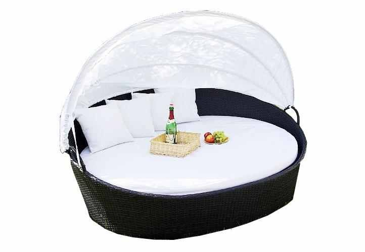 sonneninsel relaxinsel gartenm bel liege lounge garten rattan polyrattan wei ebay. Black Bedroom Furniture Sets. Home Design Ideas