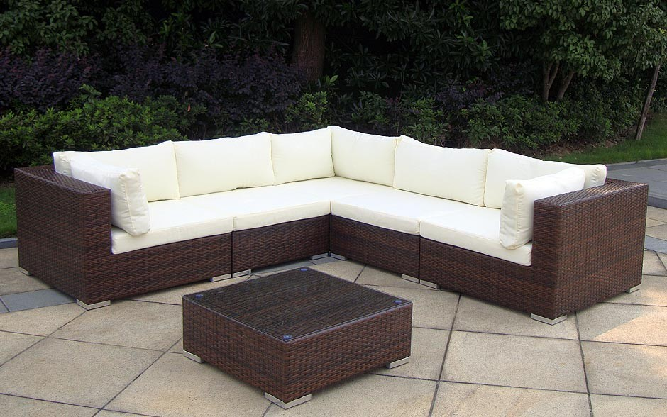 rattan lounge ecksofa garten garnitur in kreuzlingen. Black Bedroom Furniture Sets. Home Design Ideas