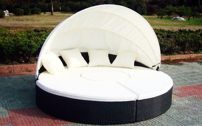 designer sonneninsel polyrattan lounge sofa liege atlantis gartenm bel outdoor ebay. Black Bedroom Furniture Sets. Home Design Ideas