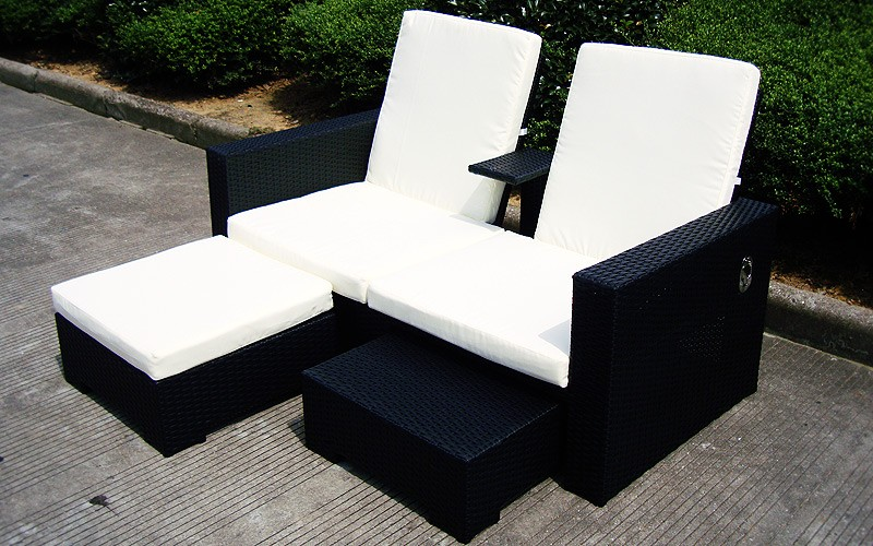 extravagante rattan sonnenliege honeymoon gartenliege m bel outdoor wetterfest ebay. Black Bedroom Furniture Sets. Home Design Ideas